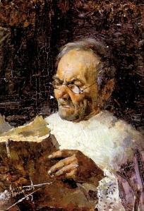 Canónigo leyendo de Enrique Simonet (1889)